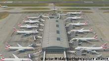 British Airways planes at Heathrow in 2016