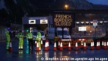 Großbritannien Blockade und Rückstau in Dover