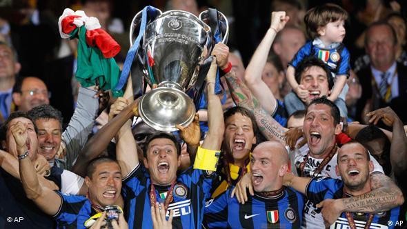 Slavlje igrača Intera u svibnju nakon pobjede u finalu Lige prvaka
