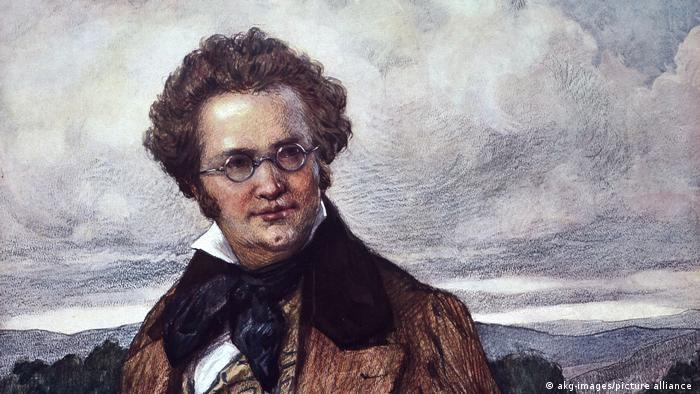 O Aυστριακός συνθέτης Φραντς Σούμπερτ (1797 - 1828), Ελαιογραφία του Ότο Νόβακ