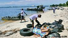 Brasilien Säuberungsaktion in der Baía de Guanabara OEOO