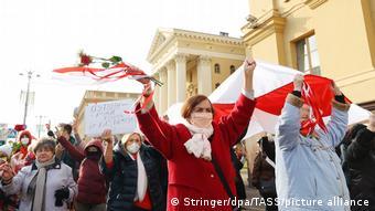 Акция протеста в Минске, октябрь 2020 года