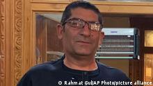 A portrait of murdered journalist Rahmatullah Nekzad