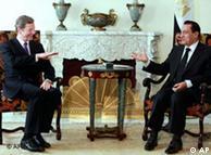 Guido Westerwelle und Husni Mubarak in Kairo (Foto: AP)