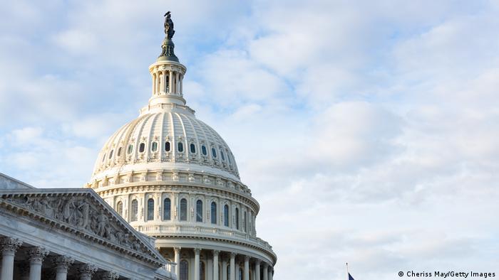 Das Kapitol, der Sitz von Repräsentantenhaus und Senat in Washington