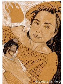 Портрет младенца-звездочки с матерью
