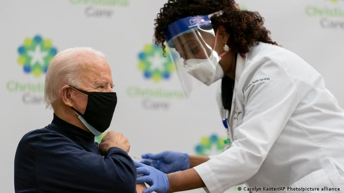 US President-elect Joe Biden receives the coronavirus vaccine