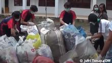Indonesien Sulawesi | Plastikmüll recyceln | Studenten