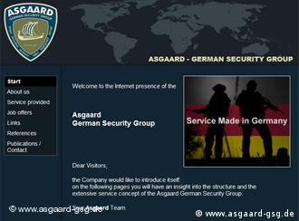 Die Website der Asgaard German Security Group http://www.asgaard-gsg.de/e_index1.html