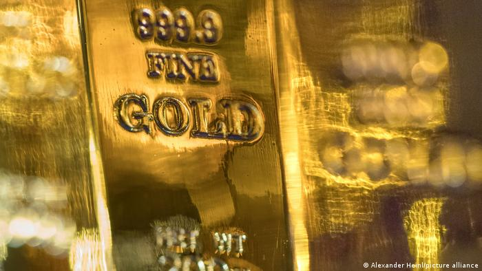 A gold bar with the inscription that reads Fine Gold (file photo)