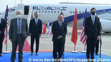 الصورة: الوفد الإسرائيلي الأمريكي عند وصوله الرباط للتوقيع على اتفاق إعادة العلاقات بين المغرب وإسرائيل في شهر كانون الأول/ ديسمبر 2020