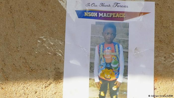 A pictured of 8-year-old Nsoh Macpeace