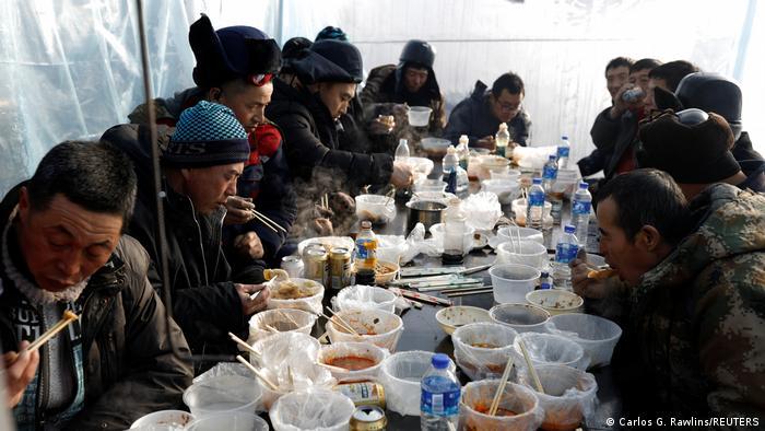 BG China Harbin | Vorbereitung auf Eis-Festival