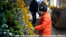 Iran Tehran | Weihnachtsvorbereitungen | Dekoration