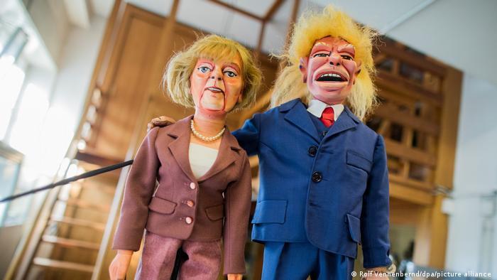 BdT mit Deutschlandbezug | Hänneschen Theater in Köln - Merkel und Trump