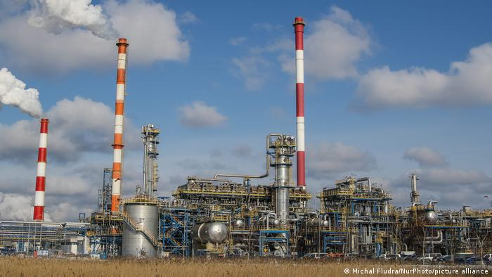 The LOTOS oil refinery plant in Gdansk, Poland