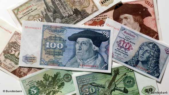 D-Mark Banknoten / Geldscheine