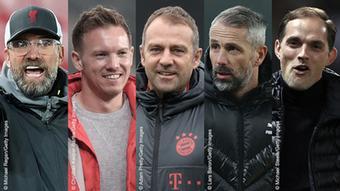 Bildkombination Top 5 deutsche Fußballtrainer