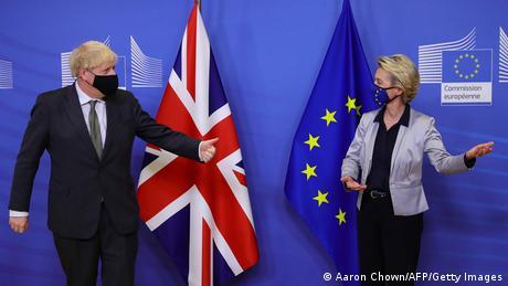 UK Prime Minister Boris Johnson and EU Commission President Ursula von der Leyen