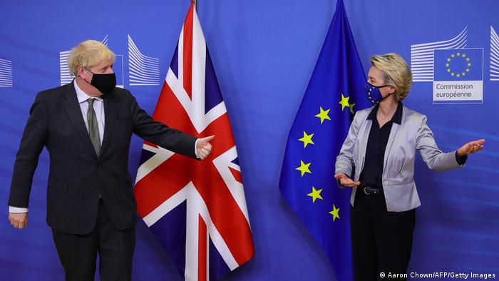 UK Prime Minister Boris Johnson and EU Commission President Ursula von der Leyen
