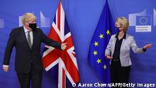 Brüssel | Johnason bei von der Leyen Brexit Gespräche