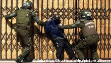 Chile Santiago 2016 |Proteste |Polizei, Verhaftung Student