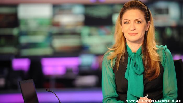 Journalistin beim arabischen Nachrichtensender Al-Arabija, Najwa Kassem