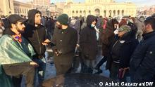 Teilnehmer von Protestaktion gegen armenischen Ministerpräsidenten Nikol Paschinyan, am 24.Dezember 2020 in Eriwan, Armenien