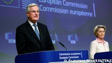EU PK Brexit-Verhandlungen   Michel Barnier und Ursula von der Leyen