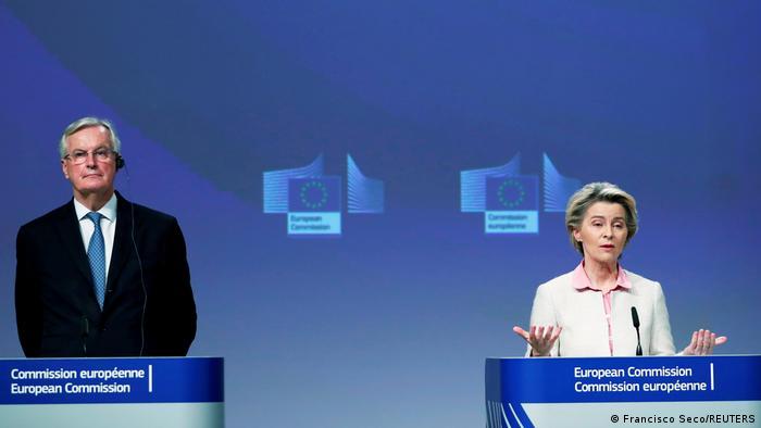 EU PK Brexit-Verhandlungen | Michel Barnier und Ursula von der Leyen