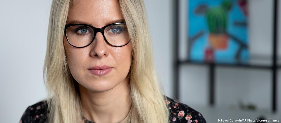 Оппозиционный политик, соратница Алексея Навального Любовь Соболь