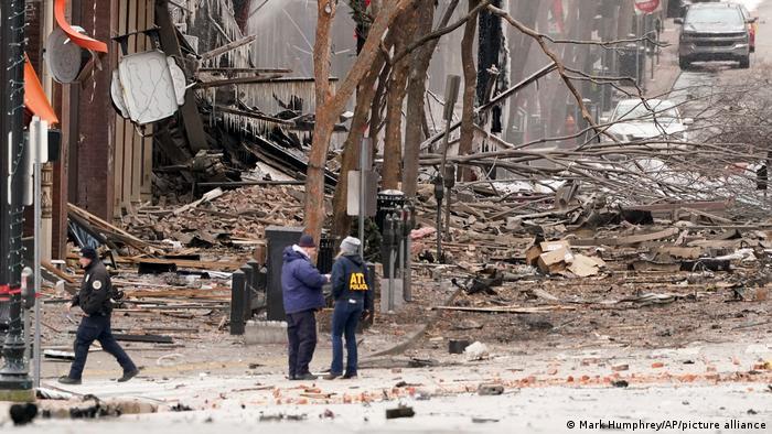 Caos após explosão em Nashville