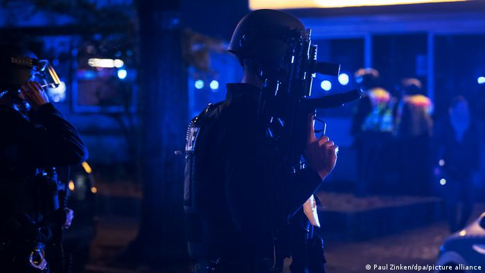 Armed police were called the Berlin's Kreuzberg district following the shooting
