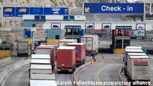 Brexit I Hafen in Dover