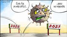 Spanisch | Karikatur Vladdo | Tschüss 2020
