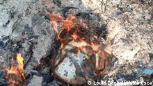 27.12.2020 *** Zentralafrikanische Republik Nana Mambéré, verbrannte Wahlunterlagen