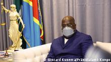 Demokratische Republik Kongo I Staatspräsident Félix Tshisekedi in Kinshasa