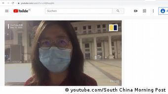 Screenshot Youtube   China Journalistin Bloggerin Zhang Zhan