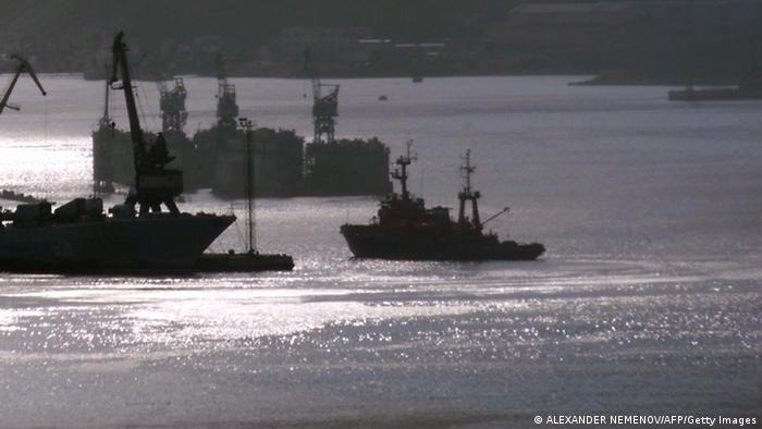 Russland Murmansk Fischerboot