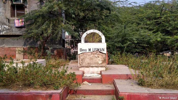 Indien Grab des Soldaten Brig. Muhammad Usman