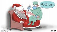 Karikatur von unserem Karikaturisten Sergey Elkin ins System. Copyright Sergey Elkin.