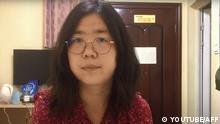 Citizen journalist Zhang Zhan wrote social media posts critical of the Chinese government