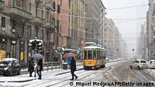 Italien I Schneechaos liegt Mailand lahm