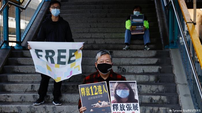 Hongkong Ativisten Protest Freilassung