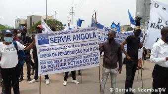 Angola | Demonstration | Legalisierung PRA JA