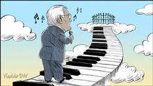Karikatur von Vladdo, Auf Wiedersehen, Manzanero