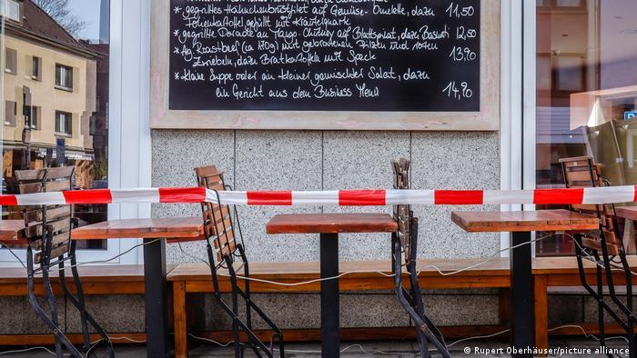 Confinamiento en Alemania: restaurantes cerrados.
