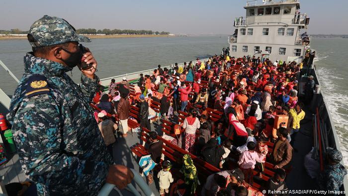 Bangladesch Umsiedlungsaktion Rohingya Insel Bhasan Char