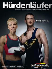 Рекламный плакат VIII гей-спортивных игр в Кельне