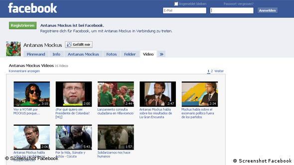 Antanas Mockus Facebook Flash-Galerie